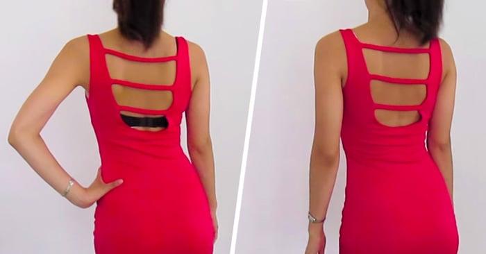 Cómo transformar un sostén normal, en uno que no tenga la parte trasera