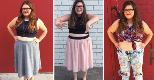 Una chica talla grande se atrevió a usar durante una semana 'crop tops'. Esto es lo que sucedió