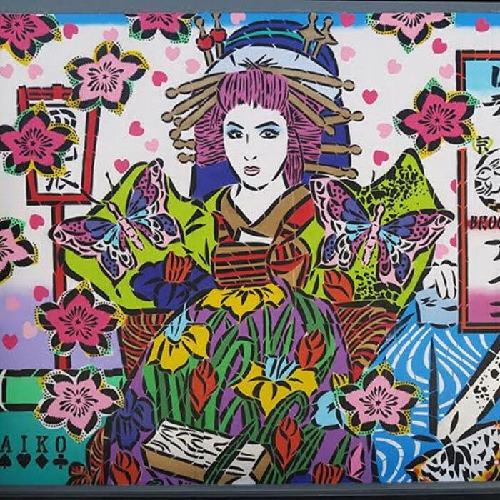 Murales de mujeres artistas callejeras; Lady Aiko