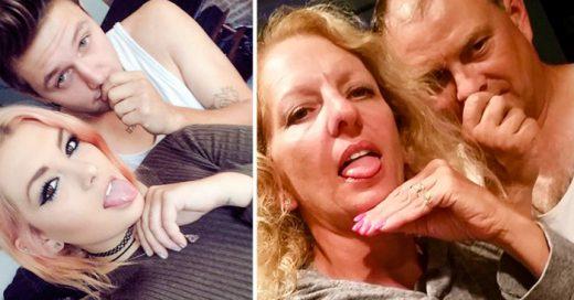 Estos padres trolean a su hija y su novio recreando sus selfies de Facebook