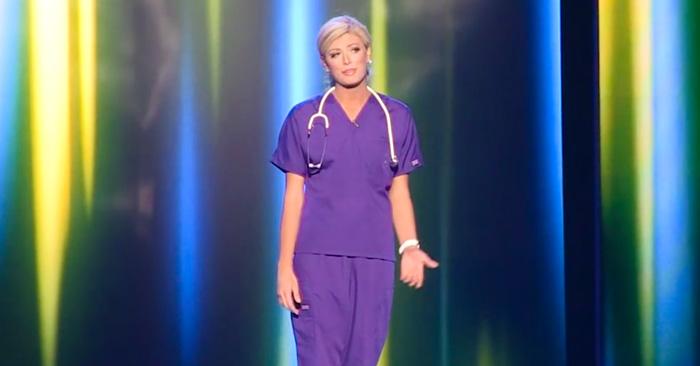 Esta reina de belleza salió al escenario vestida de enfermera y sorprendió a todos con un monólogo