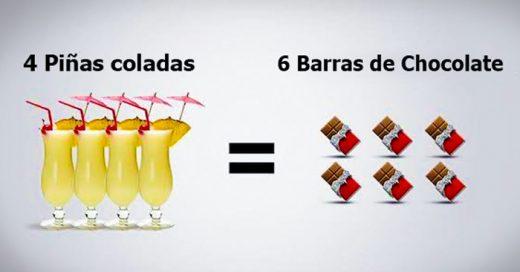 ¡Alcohol vs. Comida! Estas son las calorías que hay en cada una de tus bebidas