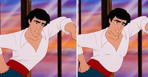 Así es como lucirían los príncipes de Disney si tuvieran un cuerpo promedio