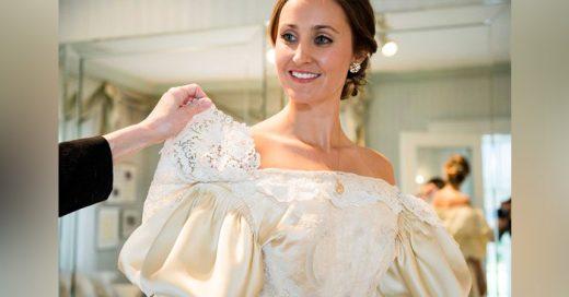 Esta familia lleva usando el mismo vestido de novia desde hace más de 120 años. ¡Ella es la número 11!