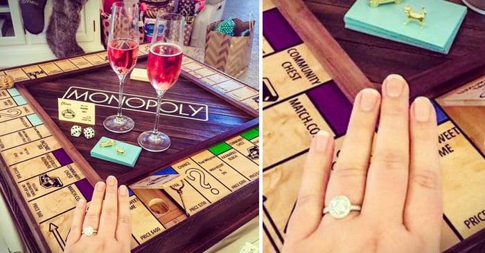 Este chico creó un increíble tablero de Monopoly para proponerle matrimonio a su novia