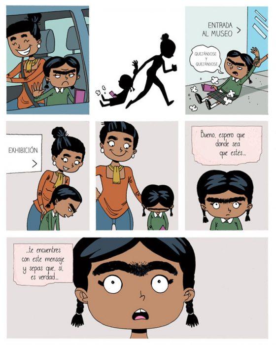 Cuarta parte del cómic de Frida Kahlo