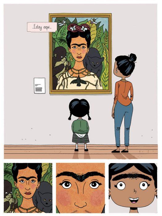 quinta parte del cómic de Frida Kahlo