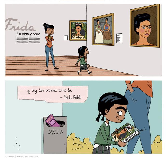 sexta parte del cómic de Frida Kahlo