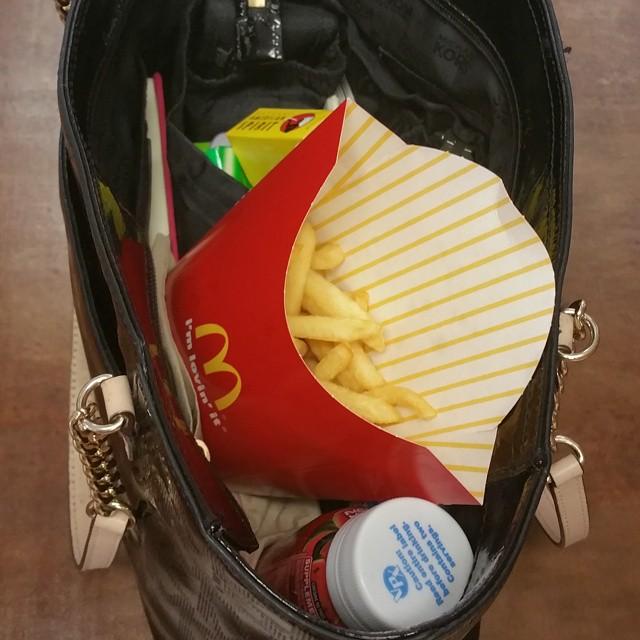 Bolsa con papas fritas