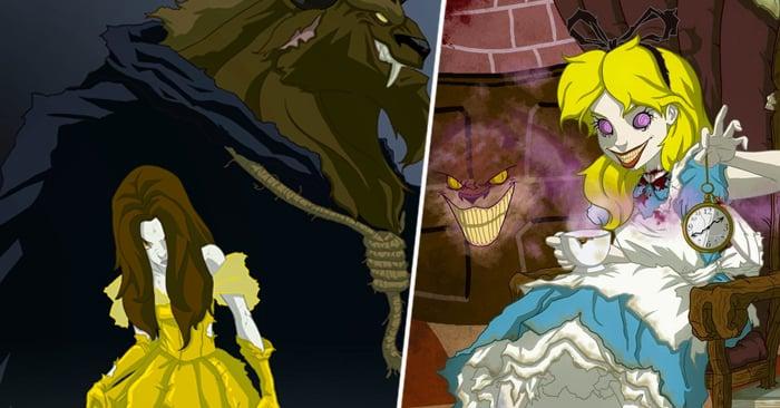 Las ilustraciones que muestras ese lado B de estas princesas