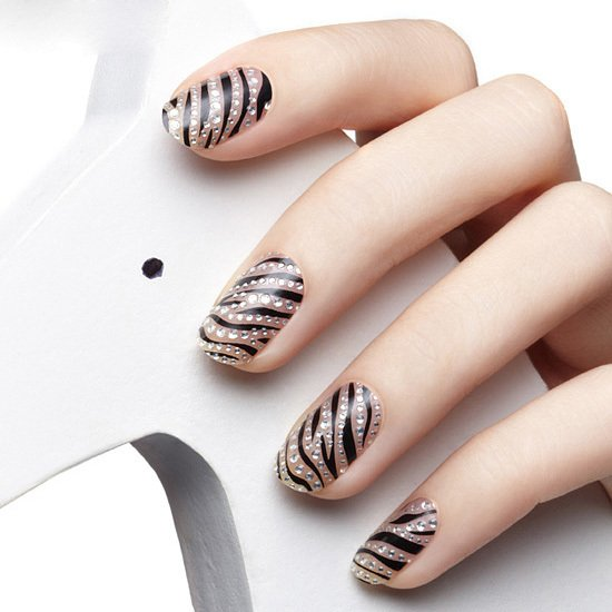Uñas decoradas como animal print