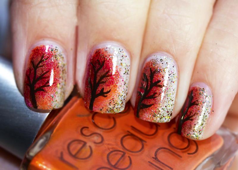 Uñas decoradas para el otoño