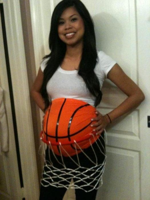 Disfraz de canasta de basquetbol