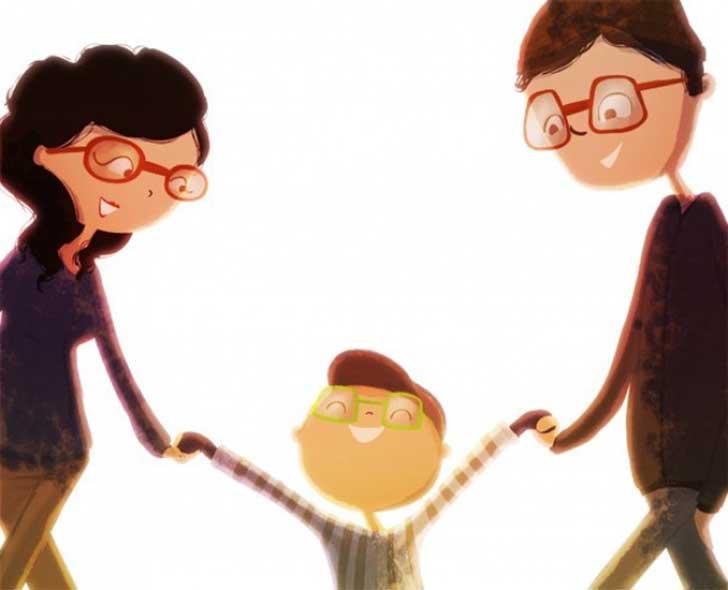 Ilustración de Nidhi Chanani la familia
