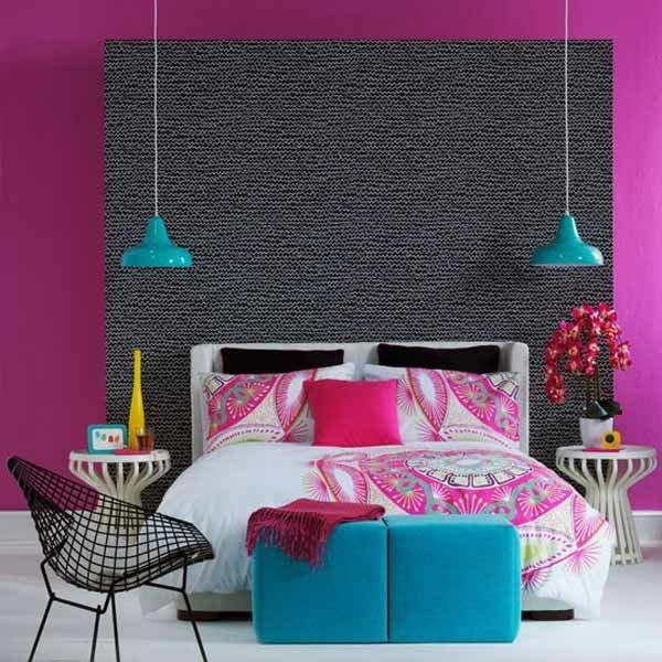 Habitación con pared con textura