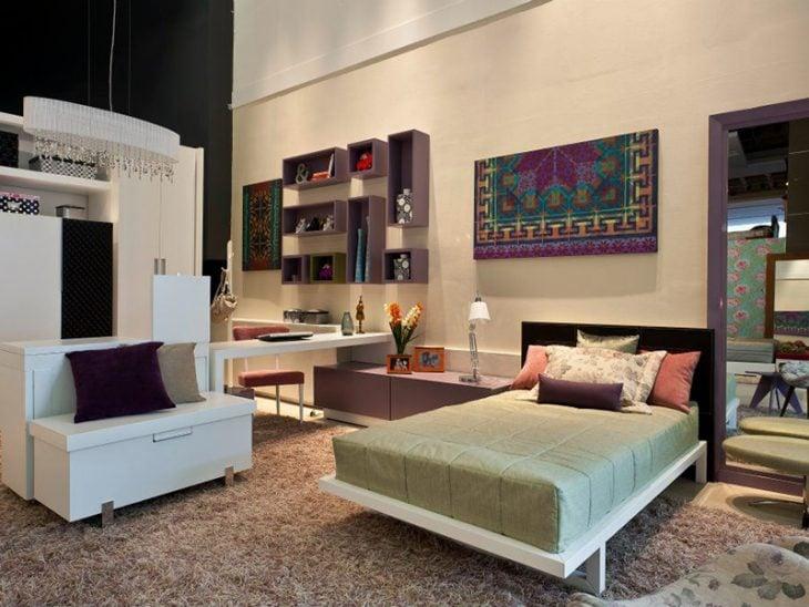Habitación con espacios bien distribuidos