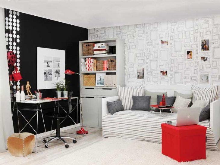 Dormitorio con oficina incluida