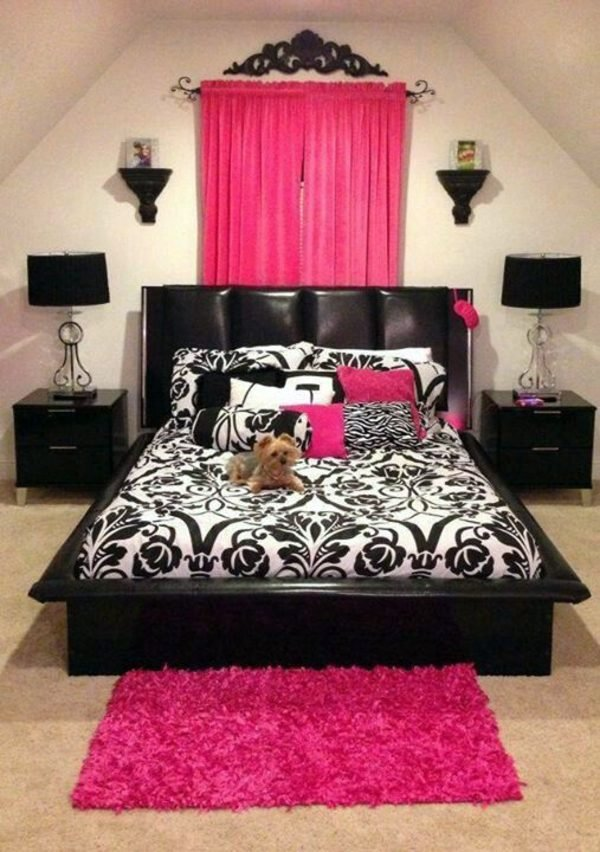 25 dise os que har n inspirarte para decorar tu habitaci n for Bedroom designs pink and black