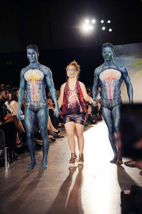 Madeline Stuart en la semana de la moda en Nueva York