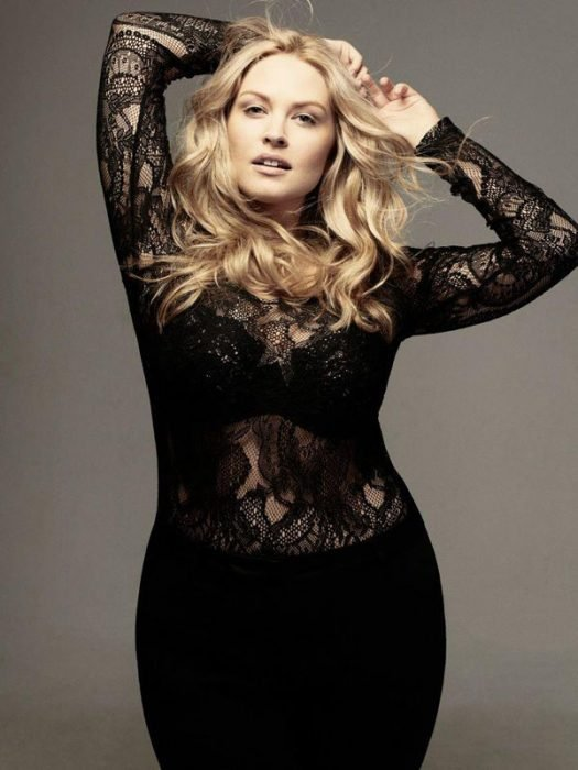Modelo pluz size Justine Legault
