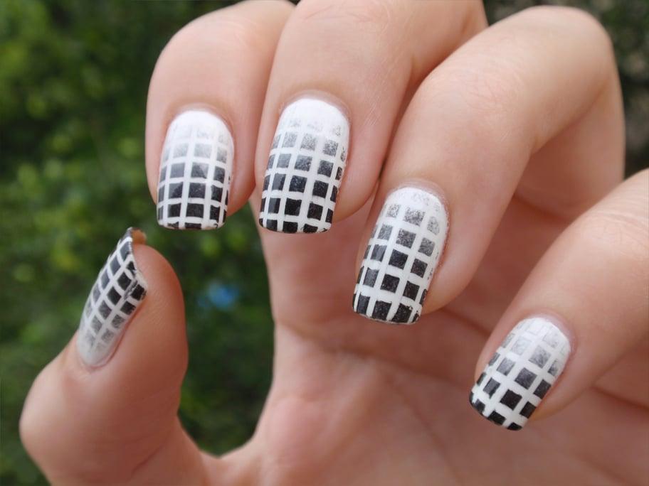 40 incre bles dise os en blanco y negro para pintar tus u as - Blanco y negro paint ...
