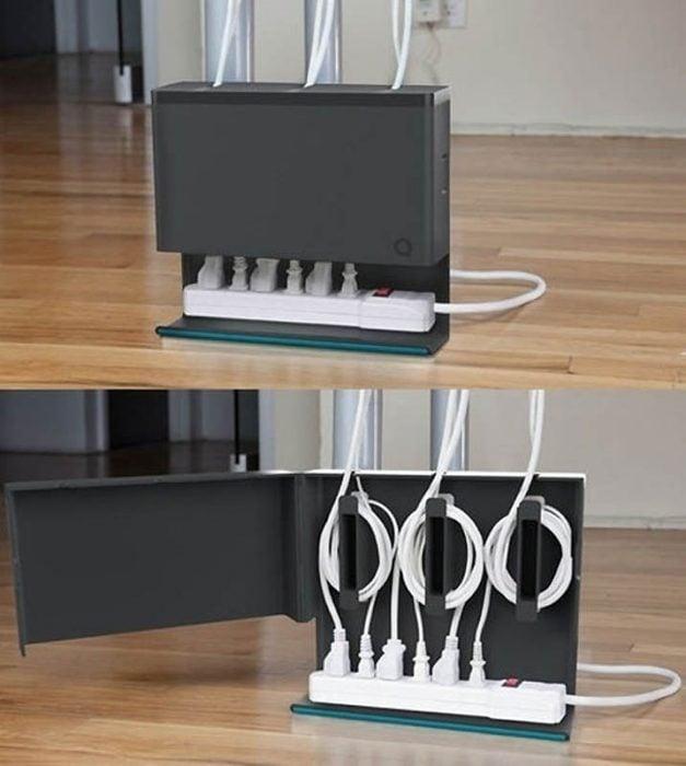 Organizar cables,mueble,equipo Articulos-para-un-departamento-peque%C3%B1o-12-627x700