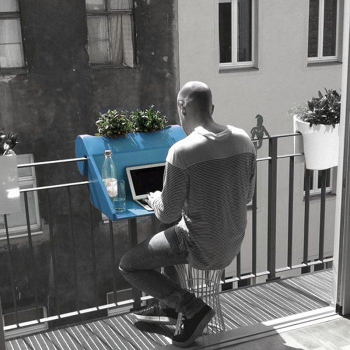escritorio de plástico para balcón