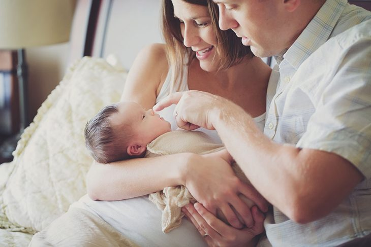 Bebé que nació con un tumor y síndrome de down