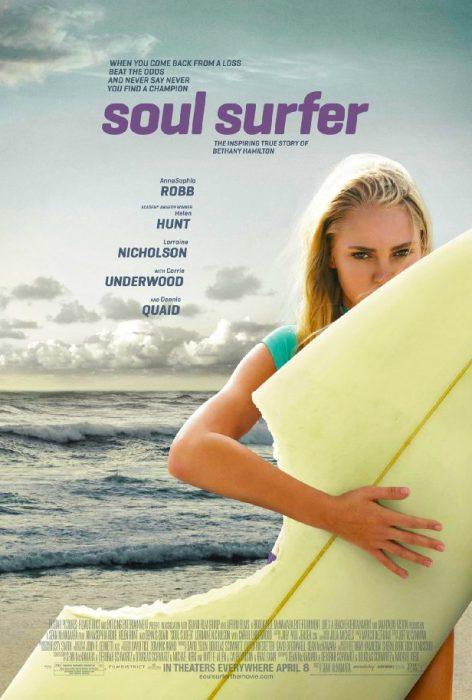 Cartel de propaganda de la película Soul Surfer