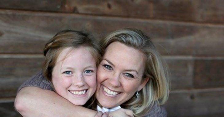 Candice Curry con su hija