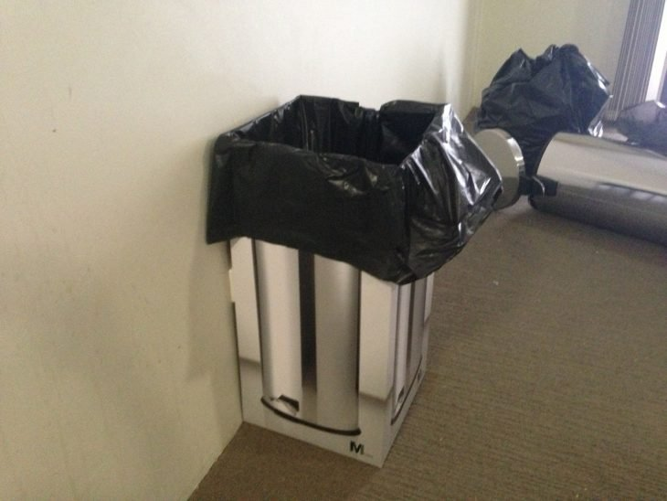 Caja de bote para basura como bote de basura