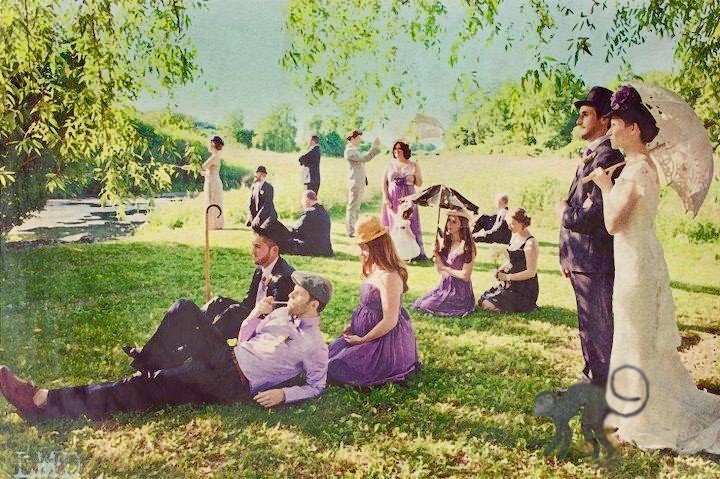 fotografía retocada estilo Monet
