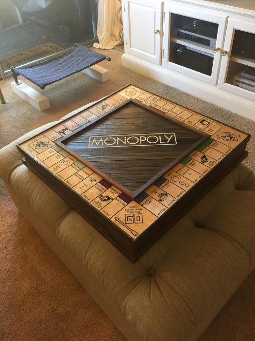 caja de madera antigua para monopoly