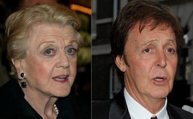 Angela Lansbury y Paul McCartney