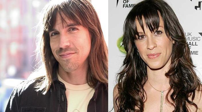Anthony Kiedis y Alanis Morisette