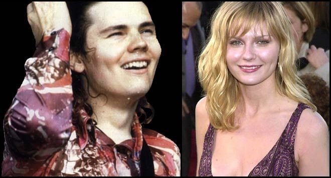 Billy Corgan y Kirsten Dunst