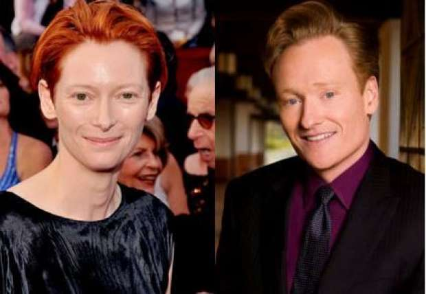 Tilda Swinton y Conen O'Brien