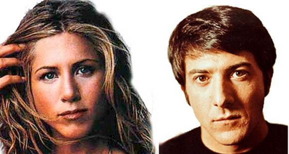 Jennifer Aniston y Dustin Hoffman