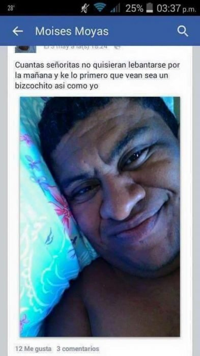 captura de pantalla hombre selfie en cama