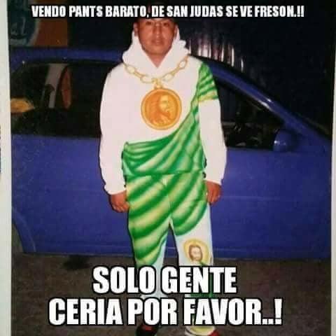imagen meme joven con pants de san judas tadeo