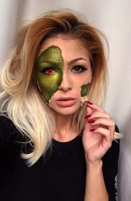 25 Ideas Para Tener Un Maquillaje Aterrador En Halloween - Maquillaje-halowin