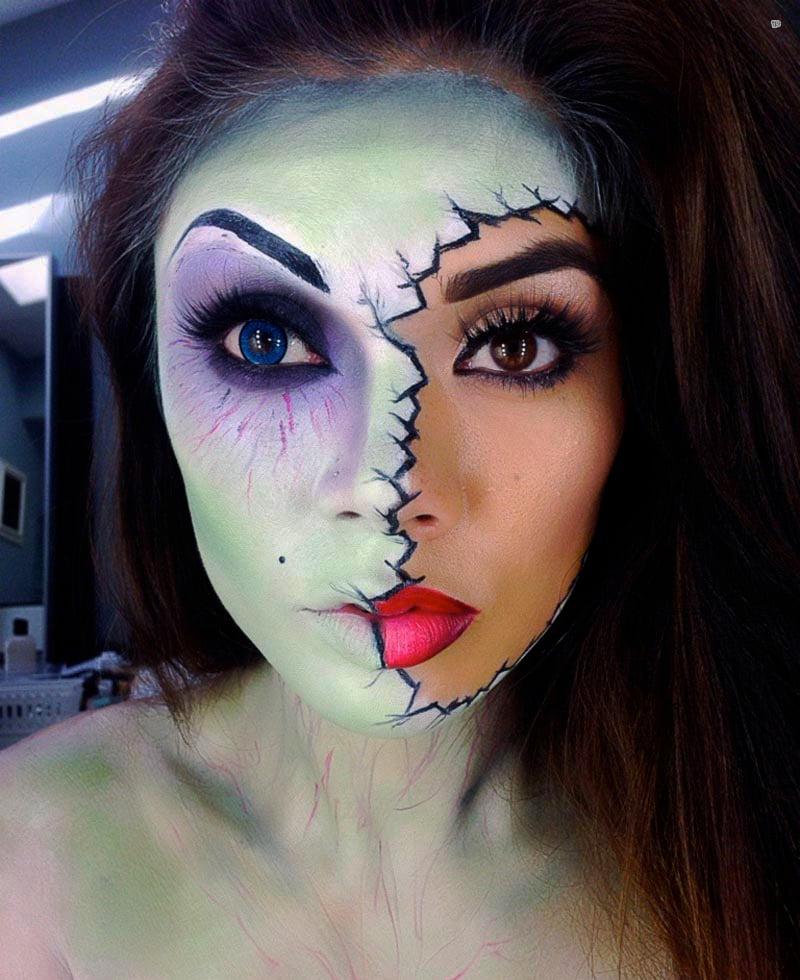 25 Ideas Para Tener Un Maquillaje Aterrador En Halloween