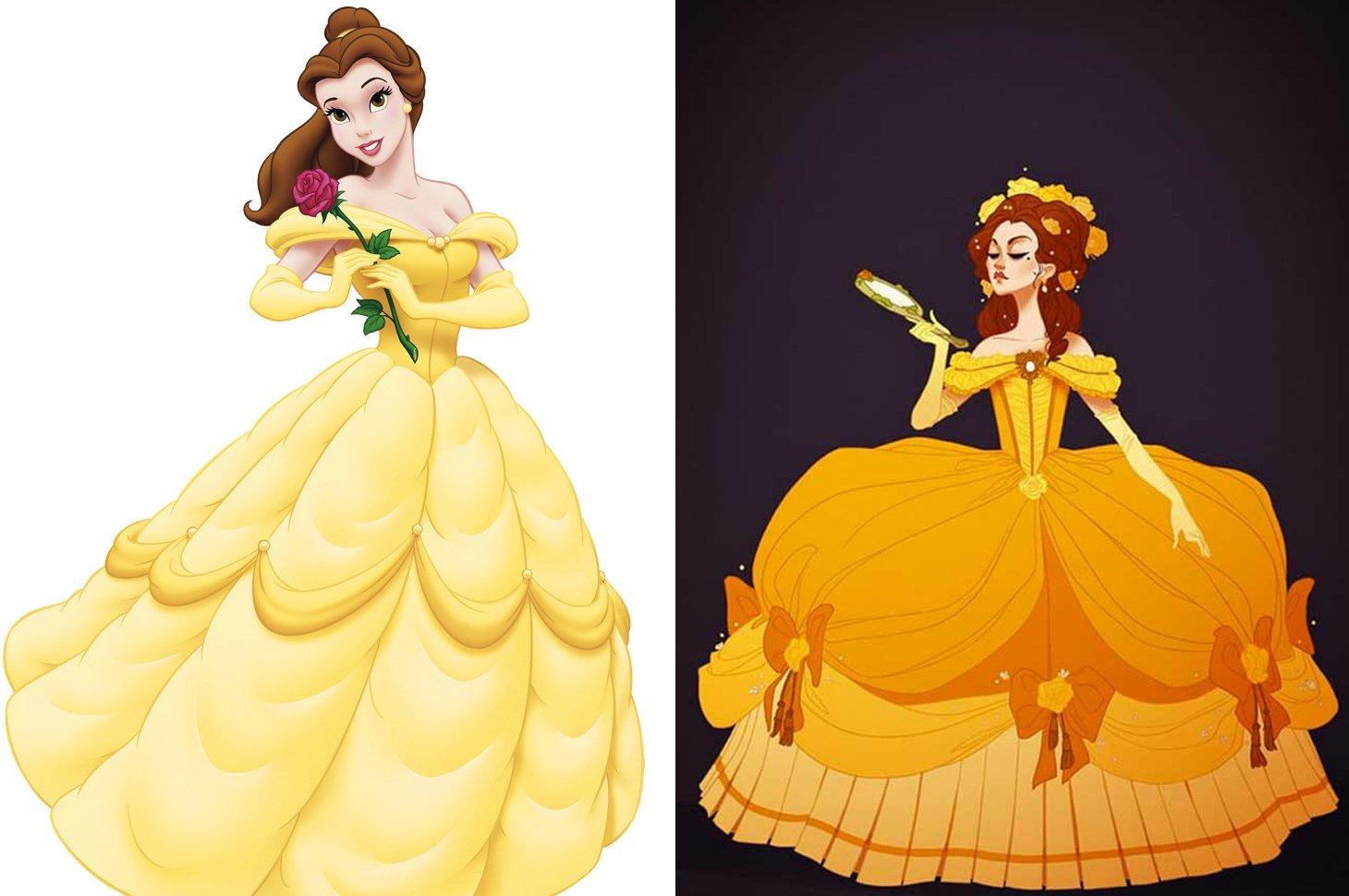 Princesas de disney vestidas seg n la poca de su historia - Casas de princesas ...