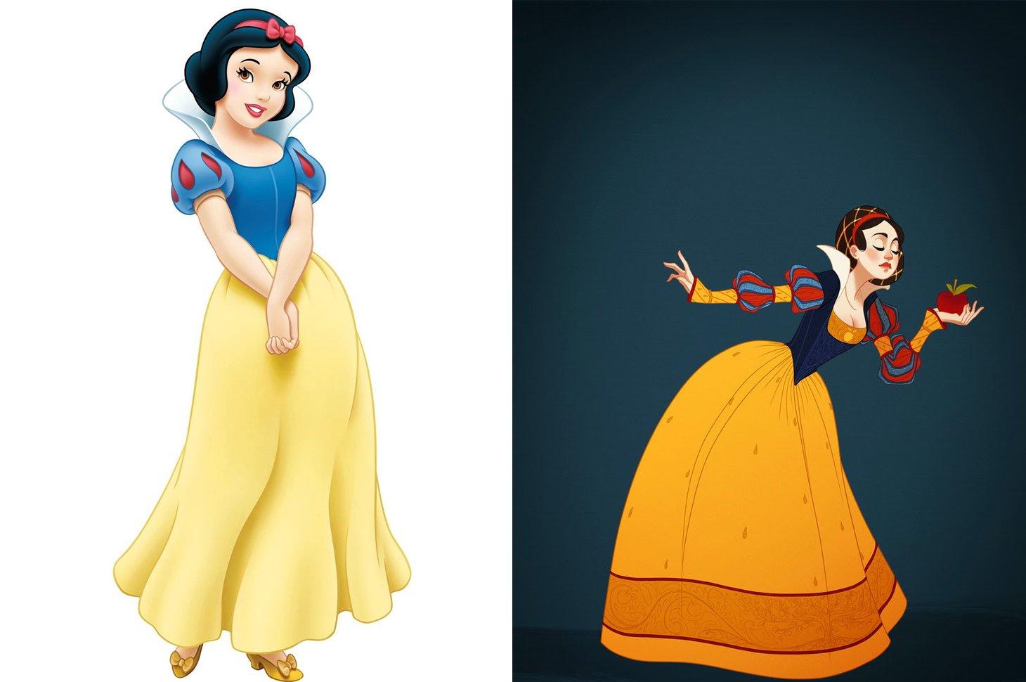 Princesas de disney vestidas seg n la poca de su historia for Muebles de princesas disney