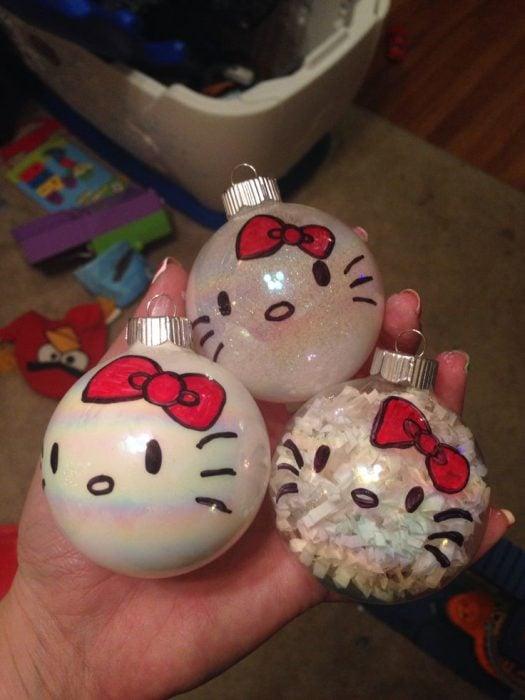 Esferas de navidad de Hello Kitty
