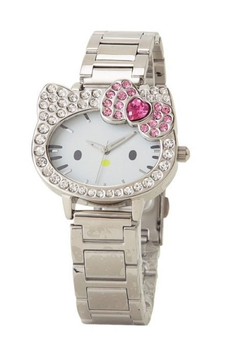 Reloj plateado de Hello Kitty