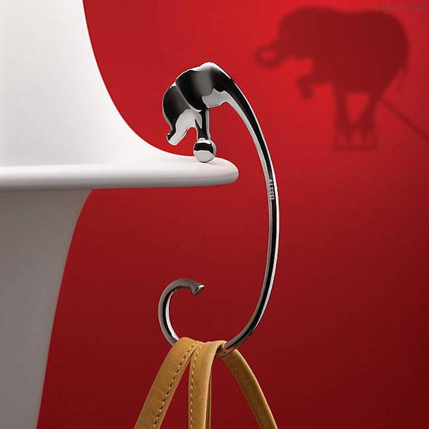 colgador de bolsa en forma de elefante