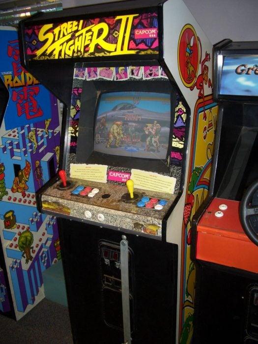 Máquina arcade de street fighter