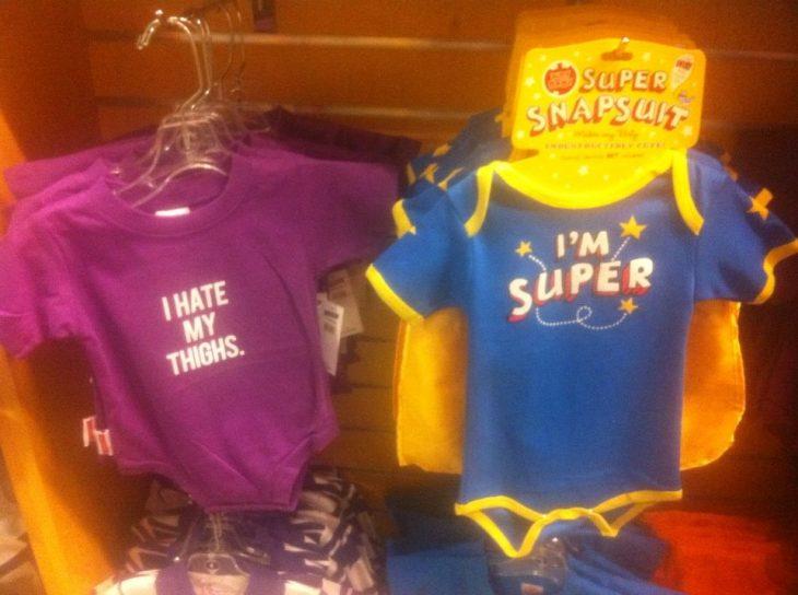 ropa bebés mensaje estereotipo