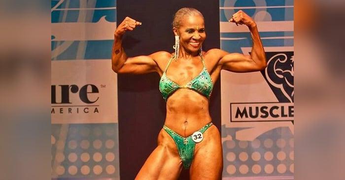 Esta mujer de 77 años es físicoculturista y está inspirando a todos a mantenerse en forma a cualquier edad